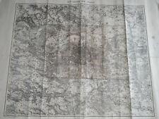 carte ancienne de PARIS et environs fin XIX eme service geographique de l'armée