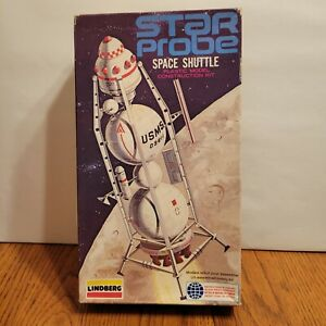 1976 Vintage LINDBERG STAR PROBE Series SPACE SHUTTLE Model Kit #1147 For Parts