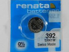 /Sr41Sw Swiss Made 1Pc Renata Watch Battery #392