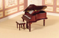 Dolls House Emporium Miniature 1/12th Scale Classical Grand Piano and Stool 2686