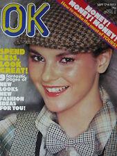OK MAGAZINE 17TH SEPT 1977 - 70'S FASHION IDEAS