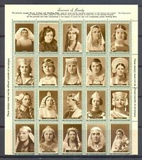 IRELAND 20 DIF HOSPITALS POSTER STAMPS (*) MOST VF-FOLDED OVER PERF.