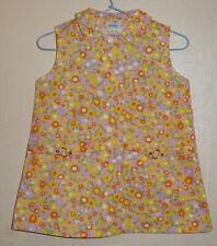 VINTAGE 1970's UNWORN GIRLS FLORAL BELT DRESS PINK AGES 12 months to 6 years