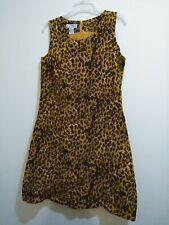 Jennifer Moore Dress Womens Dres Size12 Cheetah Sleeveless Polyester/Silk A-line