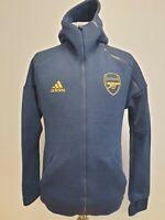 T864 MENS ADIDAS CLIMALITE ARSENAL FC BLUE FOOTBALL TRACKSUIT JACKET HOODIE UK S