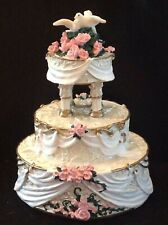 New Listing2000 Enesco Made From Scratch Love Birds Wedding Cake Figurine -797561