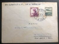 1936 Germany Hindenberg Zeppelin LZ 129 Airmail cover Domestic Flight