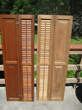 ANTIQUE WALNUT  WINDOW SHUTTERS    FROM 1880,S