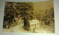 1931 Redwood Highway River Bridge Humboldt California Patterson Photo RPPC