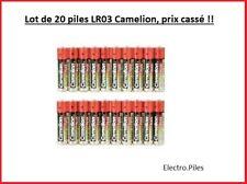 Lot de 20 Piles Camélion  Alcaline Plus AAA LR03 prix cassé !!