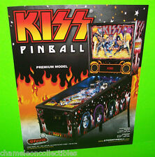 Stern KISS Premium Model 2015 Original NOS Pinball Machine Sales Flyer Glam Rock