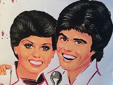 Amazing 1977 Find: Stunning Donny & Marie White Vinyl Brunchbag - Ships Free!