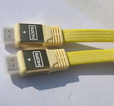 3m ad Alta Velocità HDMI Cavo connettori piatto di piombo v2.0 1080p Full HD 4k 3d Yell