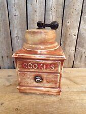 Vintage ~ McCoy ~ Large Ceramic ~ Coffee Grinder Cookie Jar ~ 1960s ~ With Lid