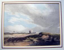 LANDSCAPE COVERED WAGON ON A MOORLAND TRACK JOHN VARLEY (ATTRIB) W/COL C1880