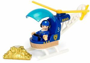 Brio POLICE HELICOPTER Wooden Toy Vehicle