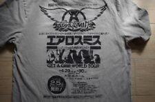 SBRN Aerosmith Get A Grip World Tour Japan Print T-Shirt Tee Osaka Grey S RARE