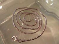 Elegantes 925 Silber Kette Schlangenkette Zopfkette Designer Elegant Retro Top