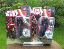Star Wars The Force Awakens Kylo Ren 3.75 both two card back variants job lot 2