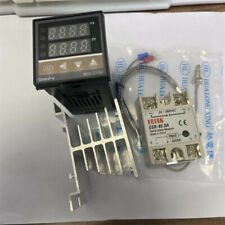 Pid Rex C100 Temperature Controller Kit With Ssr 40da K Thermocouple Heat Sink