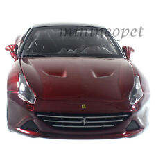 BBURAGO 18-26002 FERRARI CALIFORNIA T CLOSED TOP 1/24 DIECAST CAR DARK RED
