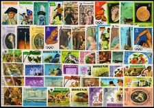 DOMINICA-50 Different-Mint Thematic Large Postage Genuine Stamps
