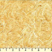 Hoffman Batiks Fabric - Bali Batik - #N2904-118 Honey Scrolly Bird