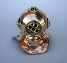 """8"""" Divers Helmet ~ Copper & Brass ~ US Navy Diving New"""
