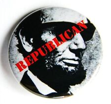 "President Abraham Lincoln Republican Pinback Button - 1.5"" - Free Shipping"