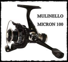 mini mulinello micron 100 pesca frizione posteriore trota lago torrente spinning