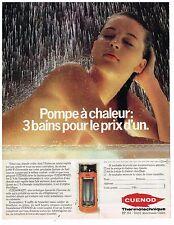 PUBLICITE ADVERTISING 054 1981  CUENO    pompe à chaleur