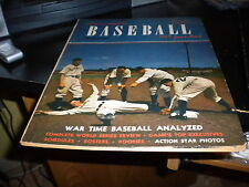 1945 BASEBALL YEAR BOOK, PICTORIAL !!!