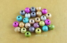 500 Pcs 4mm Mixed Stardust Acrylic Round Ball Spacer Beads
