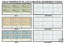 GRAF ZEPPELIN C13, C14 & C15 6-BLOCK REPRODUCTIONS