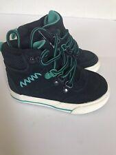 Toddler Boys Cat & Jack Blue Suede Boots size 5 w/Teal Details