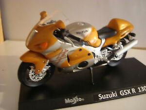 Suzuki GSX R 1300 Hayabusa Gold Silver Super Bikes 1:18