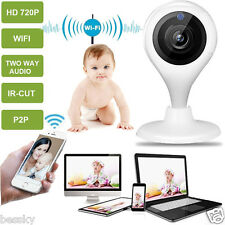 Wireless WIFI HD HD 720P IP Camera Indoor Security Pan Tilt Night Vision Cam NEW