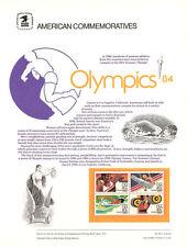 #183 40c Olympics Games (4) #C105-C108 USPS Commemorative Stamp Panel