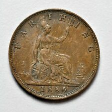 GB VICTORIA 'BUN HEAD' FARTHING 1886 ++ SHARP GRADE!! ++ [826-19]