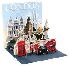 Pop Up 3D London PopShot Städtekarte Geburtstags Grußkarte Tourist 13x13cm