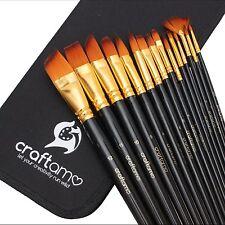 Craftamo Artist Paint Brushes Set - Watercolour, Oil, Acrylic Paint Brushes.