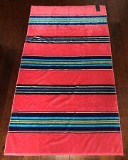 "PENDLETON Beach Towel HOT PINK Serape Stripe POOL SPA BOAT Luxurious 40""x70"" NWT"