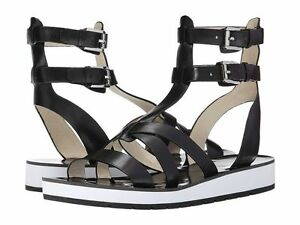 MICHAEL KORS Judie Gladiator Sandals - BLACK - SIZE 5
