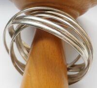 bracelet rétro semainier rigide entrelacé 7 bracelets couleur argent rhodié B1
