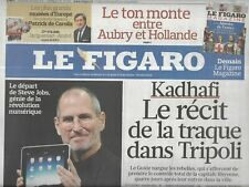 The Figaro No No 20859 26/08/2011 Gadaffi Hunted down / Steve Jobs Odour Apple /