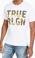 True Religion Mens T-Shirt Classic White Size XL Graphic Logo Tee $39- #241