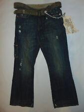 Z-Brand Distressed MENS Jeans 31X34 31 X 34 W/ Brown Belt $135 NWT NEW