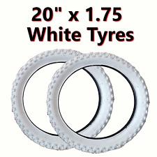 2x White Tyre 20 x 1.75 (47-406) Girls Bike Bicycle BMX
