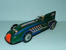 St. John Tin Toy British Record Racer 272.91 MPH (Clockwork Action) NiB