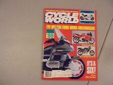 JANUARY 1988 CYCLE WORLD MAGAZINE,SUZUKI KATANA 1100,HONDA XR600R,YAM 350 MOTO L